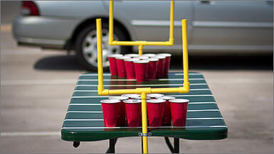 Build a tailgate beer pong table.