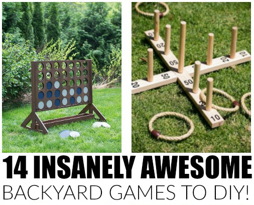 DIY Yard Games -Little House of Four