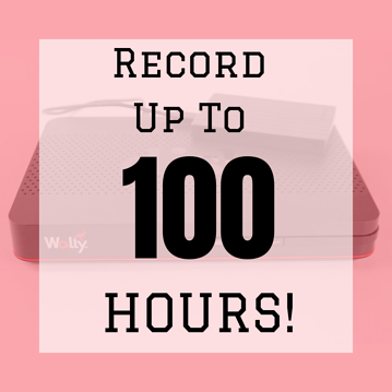 Up To 100 Hours Of Recordings Blog