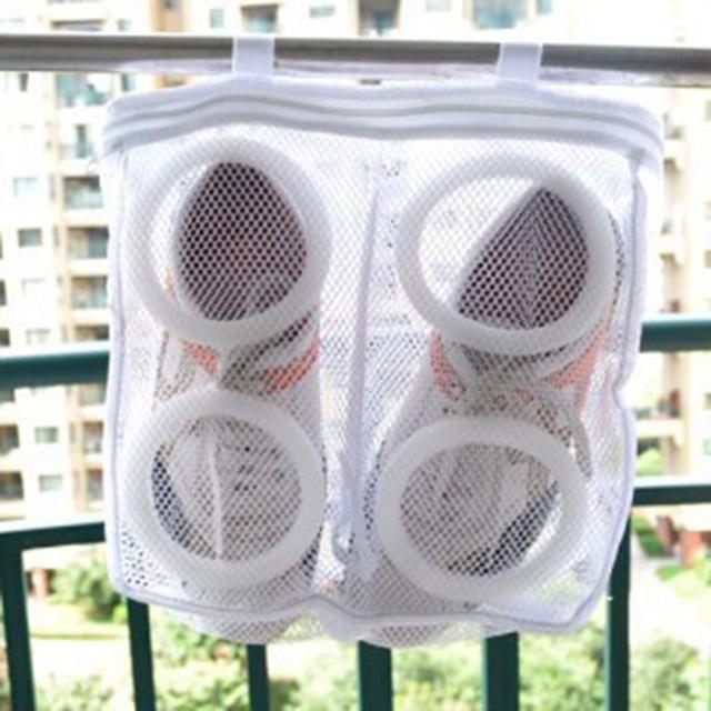 shoes in net