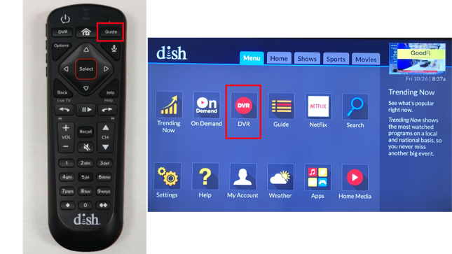 Wally Remote with Menu Guide
